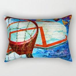 Colorful Modern Basketball Art Rectangular Pillow