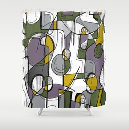Sketched Web Shower Curtain