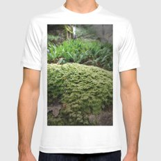 plant moss texture White Mens Fitted Tee MEDIUM