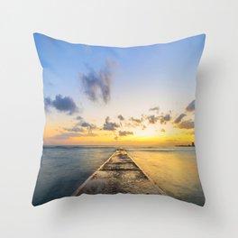Golden Hour in Waikiki Throw Pillow
