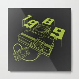 TurboGrafx-16 Line Art Console Metal Print