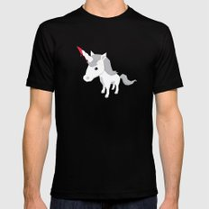 Accidental Legends: Unicorn Mens Fitted Tee Black MEDIUM
