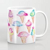ice cream Mugs featuring Ice Cream by Sara Berrenson