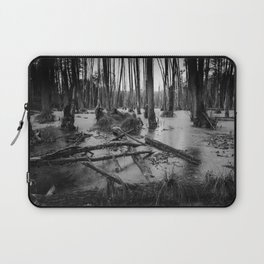 Black and White Swamp Laptop Sleeve