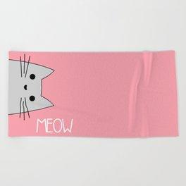 Meow Beach Towel