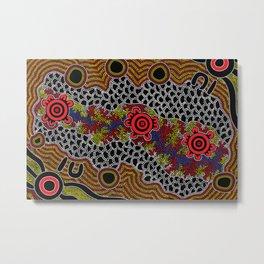Gathering - Authentic Aboriginal Art Metal Print