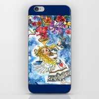 angel iPhone & iPod Skins featuring Angel by Shelley Ylst Art