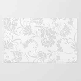 Vintage of white elegant floral damask pattern Rug