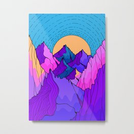 A vibrant mountain morning  Metal Print