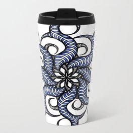 Reverse in blue Metal Travel Mug