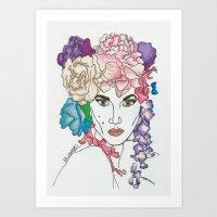 Art Print featuring Karlie Kloss by BethanieWarrenArt