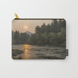Fire Sunrise on McKenzie River Carry-All Pouch