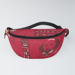 English pattern Fanny Pack