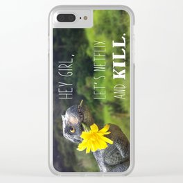 Hey girl Clear iPhone Case