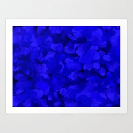 Rich Cobalt Blue Abstract Art Print