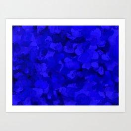 Rich Cobalt Blue Abstract Art Print