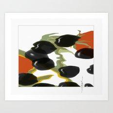antipasto / food , olive, tomatos, kitchen art, pop art Art Print