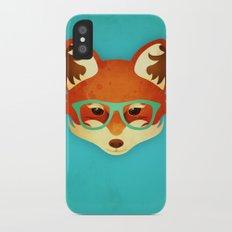 Hipster Fox: Azure Slim Case iPhone X