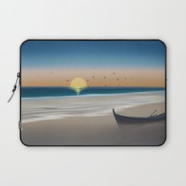 Morning on the beach Laptop Sleeve
