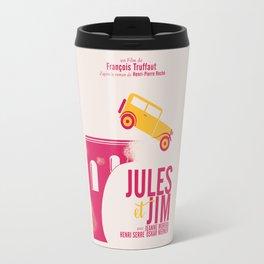 Jules et Jim, François Truffaut, minimal movie Poster, Jeanne Moreau, french film, nouvelle vague Travel Mug