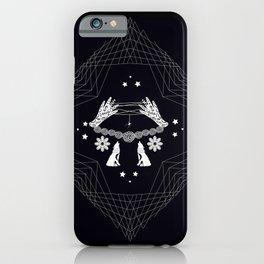 spider lace - gothic halloween modern folk art iPhone Case