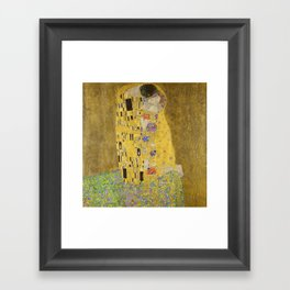 The Kiss by Gustav Klimt Framed Art Print