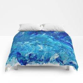Dark Ocean Blue Comforters