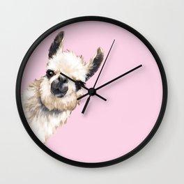 Sneaky Llama Wall Clock