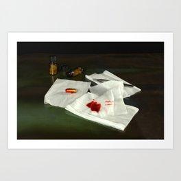 Bullet extraction Art Print