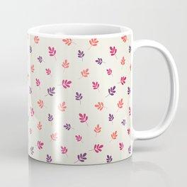 Colorful leaf seamless pattern design Coffee Mug