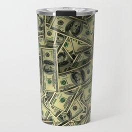 100 dollar cash get rich Travel Mug
