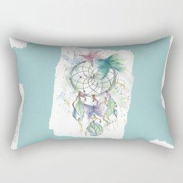 Dream catcher in blue Rectangular Pillow