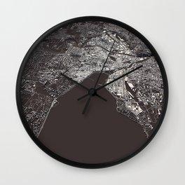 Geneva - city map Wall Clock