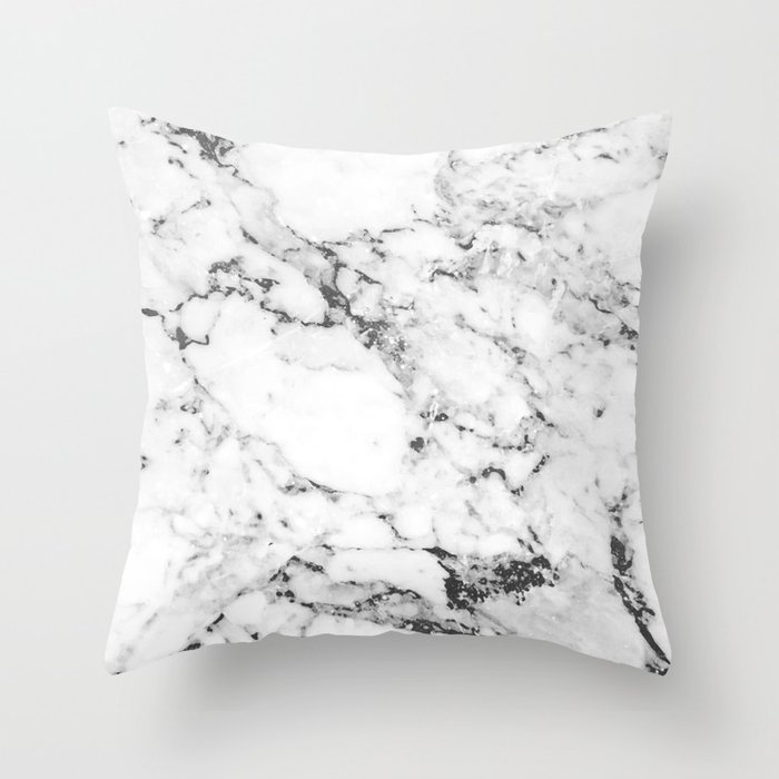 Marble Throw Pillow by mathiasthorlol