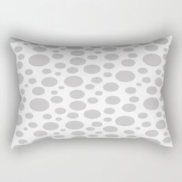 Polka Dot Plot: Grey Rectangular Pillow