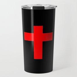 Christian Cross 12- red Travel Mug