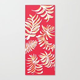 feather ferns on red Canvas Print
