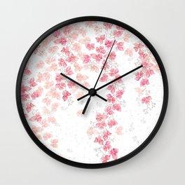Bougainvillea Floral Vines Wall Clock