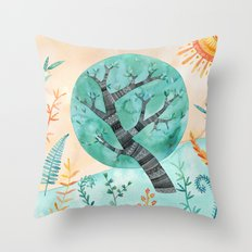 Geometric Tree Throw Pillow
