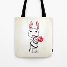 Bunny Flower Tote Bag