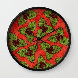 Holly berry Wall Clock