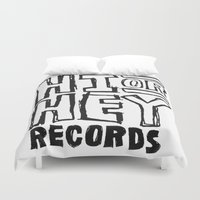 records Duvet Covers featuring Hi or Hey Records by kikabarros
