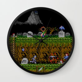 Ghost And Goblins Gameplay Wall Clock
