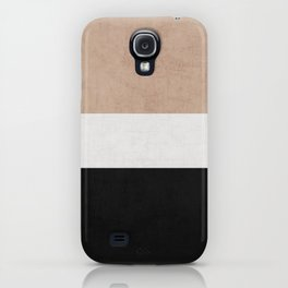 classic - natural, cream and black iPhone Case