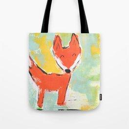 Bright and Happy Fox Tote Bag