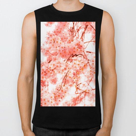 Cherry Blossoms Biker Tank