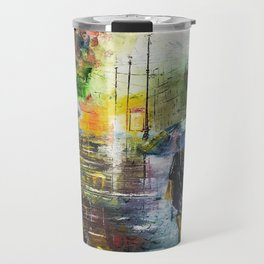 laportrayal A Monday Evening Handmade Oil Painting Customisations Travel Mug