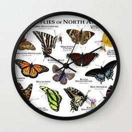 Butterflies of North America Wall Clock