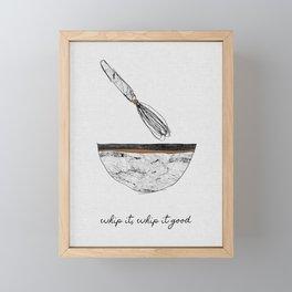 Whip It Good, Music Quote Framed Mini Art Print