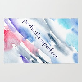 Perfectly imperfect || watercolor Rug